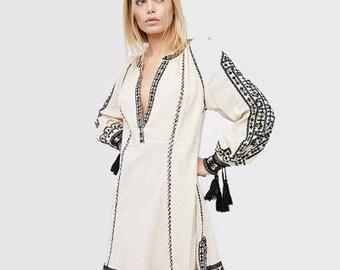 Long Sleeve Ethnic Dress