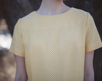 Yellow Vintage Dress / Midi Dress