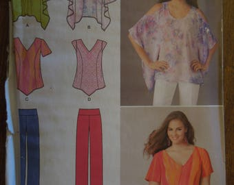 Simplicity 1667, pullover tops and pants, UNCUT sewing pattern, craft supplies