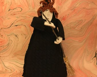Decorative Witch Soft Sculpture for Halloween