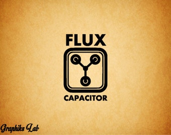 Flux Capacitor Vinyl Decal