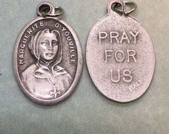 St. Marguerite d'Youville holy medal - Quebec, Catholic saint - patron of difficult marriages, widows, against death of children