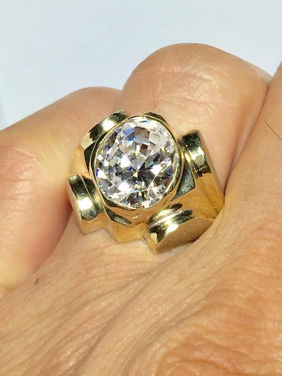 Huge 10k Solid Gold Men S Diamond Rings Men S