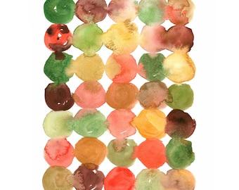Watercolor Abacus No. 2