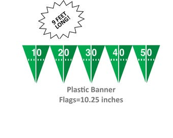 football flag garland, football field bunting, sports party decorations, hanging banner, graduation supplies, flags, hanging decor, mens