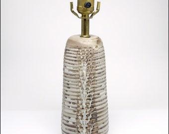 Nancy Wickham Mid Century Modern Studio Art Pottery Lamp