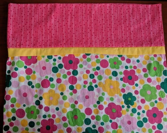 Pink Floral Pillowcase