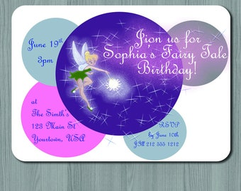 Tinkerbell Fairy Tale Birthday Party Invite