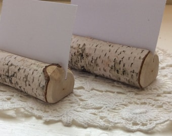 Set of 10 Rustic Wedding Place Card Holders