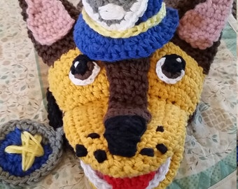 CROCHET PATTERN - Paw Patrol Hand Puppet (Chase) - Instant PDF Download