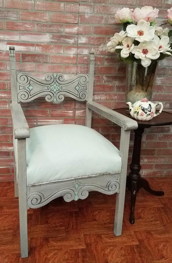 Jacobean Chair Painted Furniture Vintage Chair Antique
