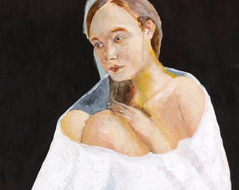 Large Wall Art - Blanket, Giclee Art Print, Figurative Art, Modern Art