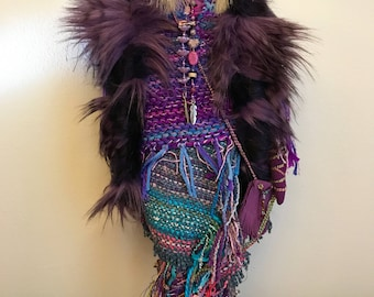 "Handmade Spirit Doll ""Maska, The Wolf Spirit Healer"""