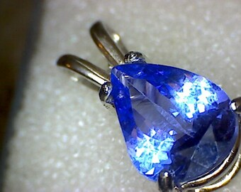 Beautiful Tanzanite Pear Pendant