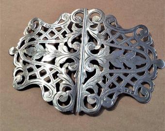 Edwardian Sterling Silver Belt Buckle