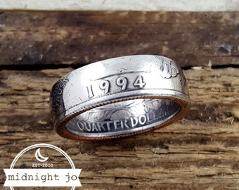 1994 Coin Ring - 1994 Quarter Ring - US Coin Rings - 1994 Jewelry - 1994 Ring - Unique Birthday Gift - Anniversary Gift - Coin Jewelry