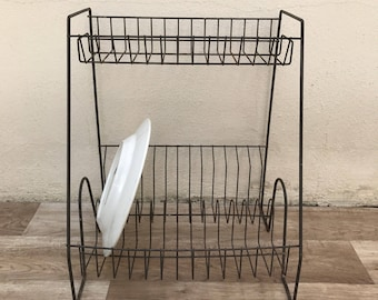 Vintage Stand Dish Drying Rack Shelf Sink Kitchen Organizer dryer 1311175