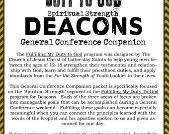 Fulfilling My Duty to God Deacons General Conference Companion