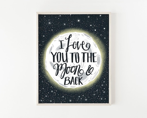 """To the Moon"" - wall art print"