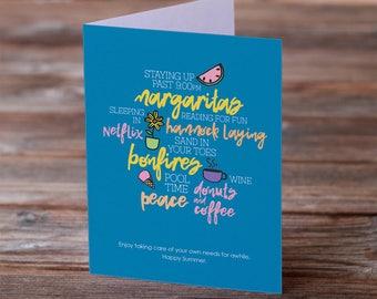 Teacher Appreciation • Thank You Summer • Greeting Card