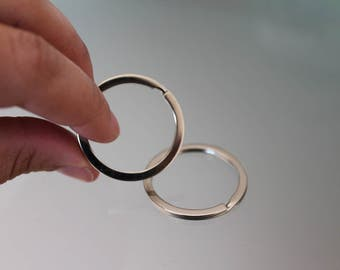 Stainless Steel Key Chain Ring, Key Holder Rings, Key ring, Jump Rings, Jewelry Supplies.