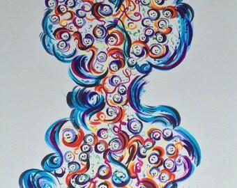Original Drawing 'Smiley Bubbles No.3'