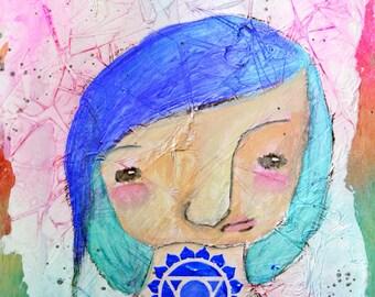 "Clarice - Original Nixie 8x10"" painting"
