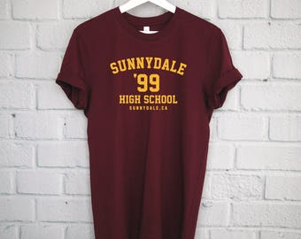 Sunnydale High School T-Shirt, Buffy The Vampire Slayer Shirt, Buffy Shirt, Sunnydale Tshirt, Sunnydale Razorbacks, Sunnydale Shirt