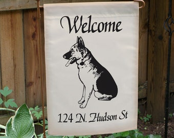 Welcome Dog Breed Personalized Double-sided Garden Flag -gfy83025422DS