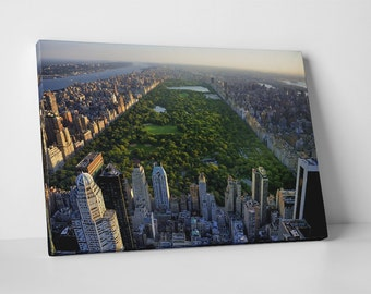 New York City Central Park Skyline Gallery Wrapped Canvas Print