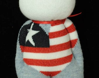 Patriotic Sock Doll