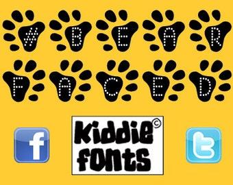 Children in Need #bearface typeface