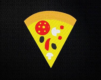 Pizza Embroidery Design - 4x4 & 5x7 Inches Instant Download!
