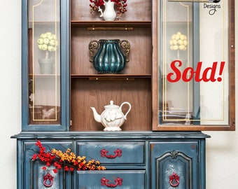 SOLD!!! Whimsical Painted Hutch
