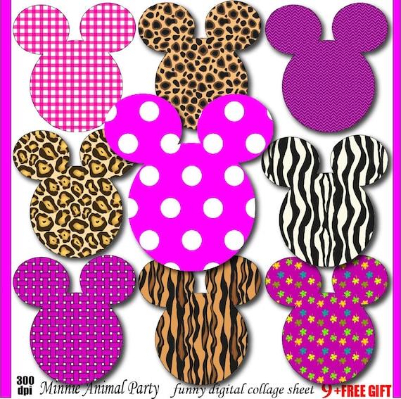 minnie clipart animal print minnie mouse birthday invitation rh etsy com animal foot print clip art clipart animal print borders
