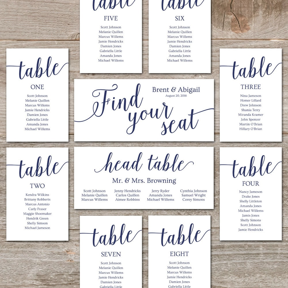 Astounding image with regard to printable wedding seating chart template