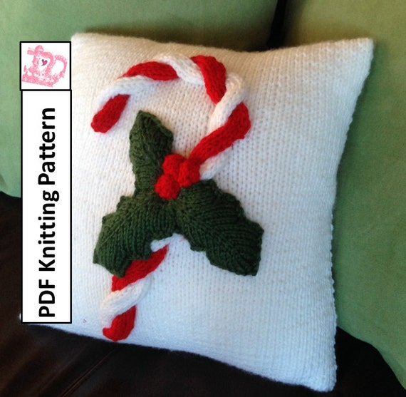 Pdf Knitting Pattern Christmas Knitting Pattern Christmas Pillow