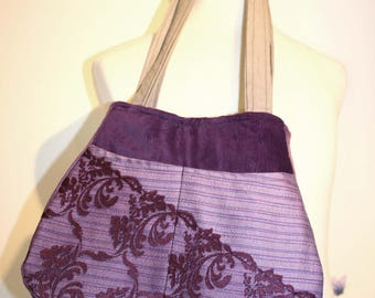 NEW Shoulder Handbag made from Vintage Tapestry Fabrics, Lace and Crochet. 8 Pockets.