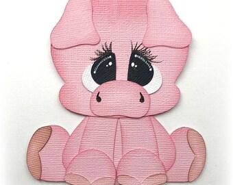 Adorable  pig animal premade paper piecing 3d die cut by my tear bears kira