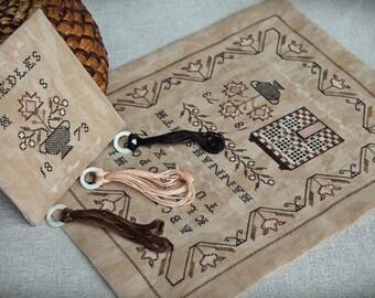 Hannah Smith Sampler / Primitive sampler / Cross stitch pattern / PDF