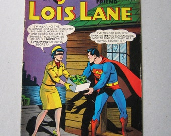 Old Comic Book, Lois Lane #71, First SA of Catwoman, Superman's Girlfriend, Vintage Comic Book, Collectible, 1960s, Comic Book, DC Comic