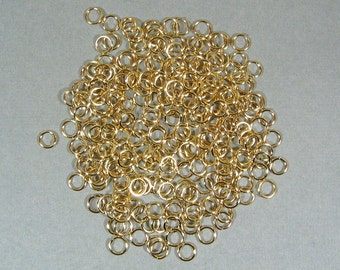 6mm Gold Plated Jump Rings