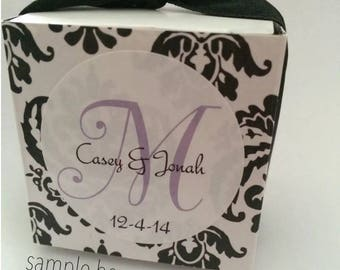 Personalized Wedding Favor Monogram Labels (pack of 120)