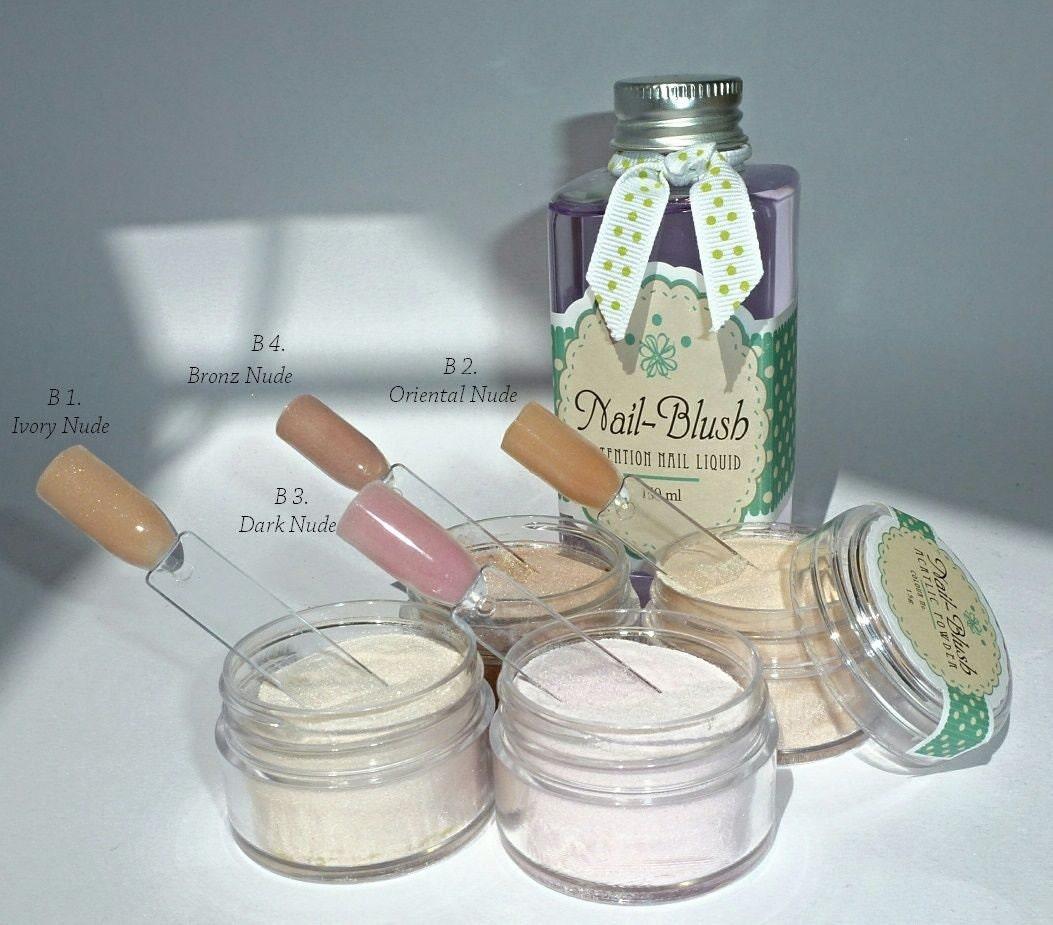 Acrylic nail powder Nude colours B3. Dark Nude 15g by
