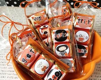KIT Halloween Kids Nugget Wraps, Hershey Candy Wraps, Teacher Appreciation, Party Favors, Co-Workers Treats, Office Treat, Halloween, Orange