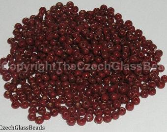 20g CZECH SEED BEADS 7/0 wild cherry picasso 32