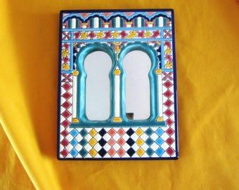 Spanish Boho Ceramic Mirror Artecer SL Ethnic Espejos