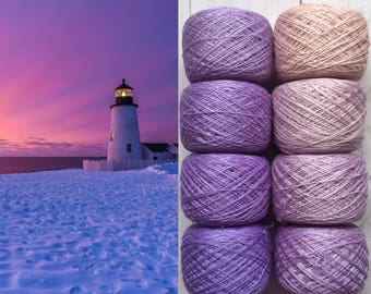 Mulberry silk 100%,handdyed yarn, hand painted. Lilac sand. 200g.