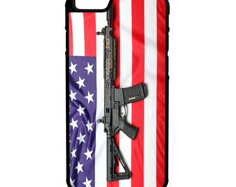 AmericanFlag AR 15 Protective Hybrid Phone Case iPhone Galaxy Note LG HTC