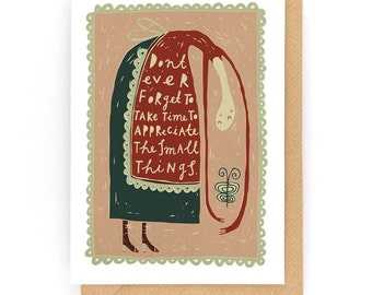 The Small Things - Greeting Card (2-8C)